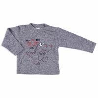 Kış Dinozor Baskılı Erkek Bebek Yumuşak Tuşeli Sweatshirt