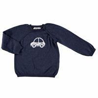 Winter Car Patterned Baby Jumper