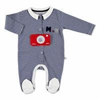 Baby Mini Polo Neck Footed Romper