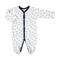 Teddy Bear Theme Baby Footed Snap Romper