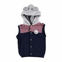 Winter Taxi Driver Teddy Bear Baby Hoodie Vest