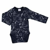 Winter Baby Boy Mom Elephant Emprime Long Sleeve Bodysuit