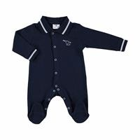 Winter Baby Boy Mom Elephant Polo Neck Footed Romper