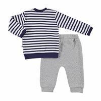 Bebek Kaykaylı Ayı Oyuncaklı Sweatshirt Kapitone Tek Alt 2Li Takım