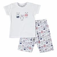 Baby Boy Teddy Bear Printed Short SleevePyjamas