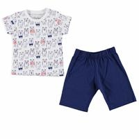 Baloon Feature Printed Short Sleeve Baby Pyjamas
