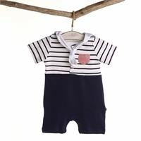 Sailor Duck Baby Scarf Detailed Short Romper