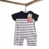 Erkek Bebek Denizci Ördek Kısa Tulum, İnterlok