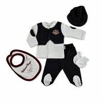 Baby Boy Nakışlı 5li Kutulu Hastane Çıkışı