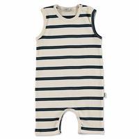 Summer Baby Boy Striped Supreme Crew-Neck Jumpsuit