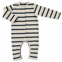 Summer Baby Boy Striped Supreme Crew-Neck Romper