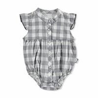 Bebek Kareli Fırfır Gömlek Body