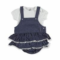 Bebek Puanlı Salopet-Tshirt