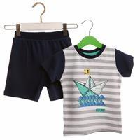 Yaz Erkek Bebek Denizci Tshirt-Şort Takım