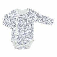 Summer Baby Boy Long Sleeve Snapsuit Bodysuit