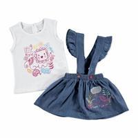 First Summer Theme Baby Girl Shirt Skirt Set