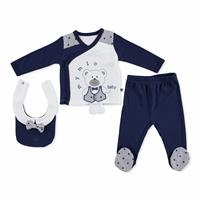 Cute Teddy Bear Bodysuit-Footed Bottom