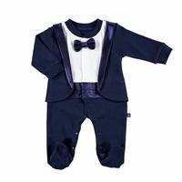 Baby Bow Interlock Long Sleeve Romper