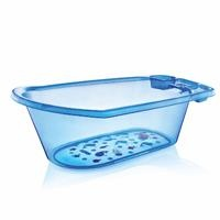 Clear Patterned Detail Plastic Baby Bathtub 50 Litre