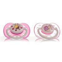 Baby Silicone Soothers 2 pcs 0-6 Months - Girl
