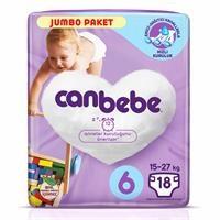 6 Beden Jumbo Paket Extra Large Bebek Bezi 15 kg+ 18 adet