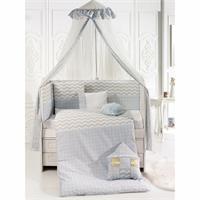 Blue House Baby Crib Bedding Set 75x130 cm
