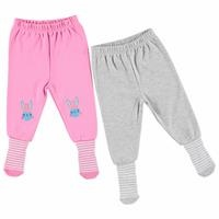 Bebek Baskılı 2'Li Çoraplı Pantolon