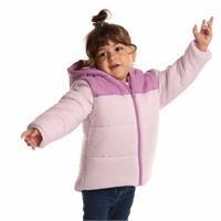 Kış Kız Bebek Basic İki Renkli Kapüşonlu Mont