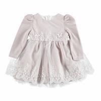 Kış Kelebekli Uzun Kol Abiye Bebek Elbise