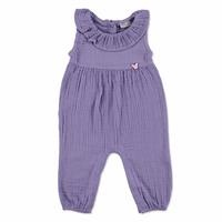 Summer Baby Muslin Cotton Crew Neck Single Jumpsuit