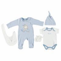 Bebek Aslancık Mavi 5li Tulumlu Hastane Çıkışı