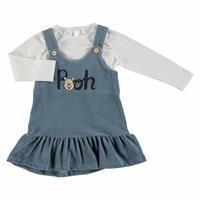 Kış Kız Bebek Winnie The Pooh Lisanslı Jile Sweatshirt 2'Li Takım