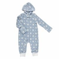 Winter Zippered Baby Hoodie Polar Romper