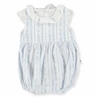 Ruffled Collar Texture Baby Girl Short Romper