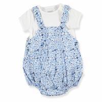 Baby Girl Little Flower Button Jumpsuit Tshirt Set
