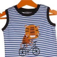 Baby Boy Bike Tiger Printed Athlete