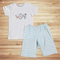 Baby Boy Champion Printed Short SleevePyjamas Set