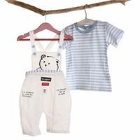 Erkek Bebek Minik Ayı Salopet T-Shirt Takım