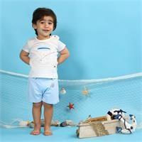 Baby Boy Little Fisher Tshirt Short Set