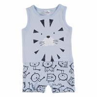 Summer Little Lion Printed Baby Boy Short Sleeveless Romper