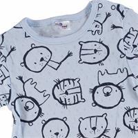 Summer Little Lion Printed Baby Boy Short Sleeve Romper