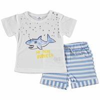 Baby Boy Hi There Tshirt Short Set
