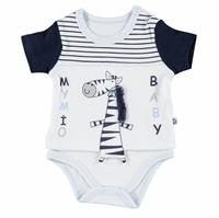 Striped Baby Boy Short Sleeve Bodysuit