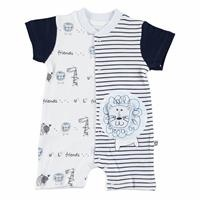 Striped Baby Boy Short Romper
