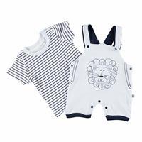 Striped Baby Boy Jumpsuit Tshirt Set