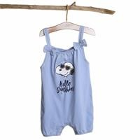Snoopy Licensed Printed Sleeveless Baby Girl Jumpsuit