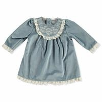 Kış Çiçekli Kadife Bebek Elbise
