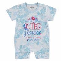 Summer Baby Girl Flower Supreme Short Sleeve Jumpsuit