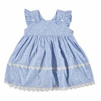 Summer Baby Girl Blue Flower Dress