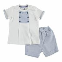 Bebek Çizgili Tshirt-Şort